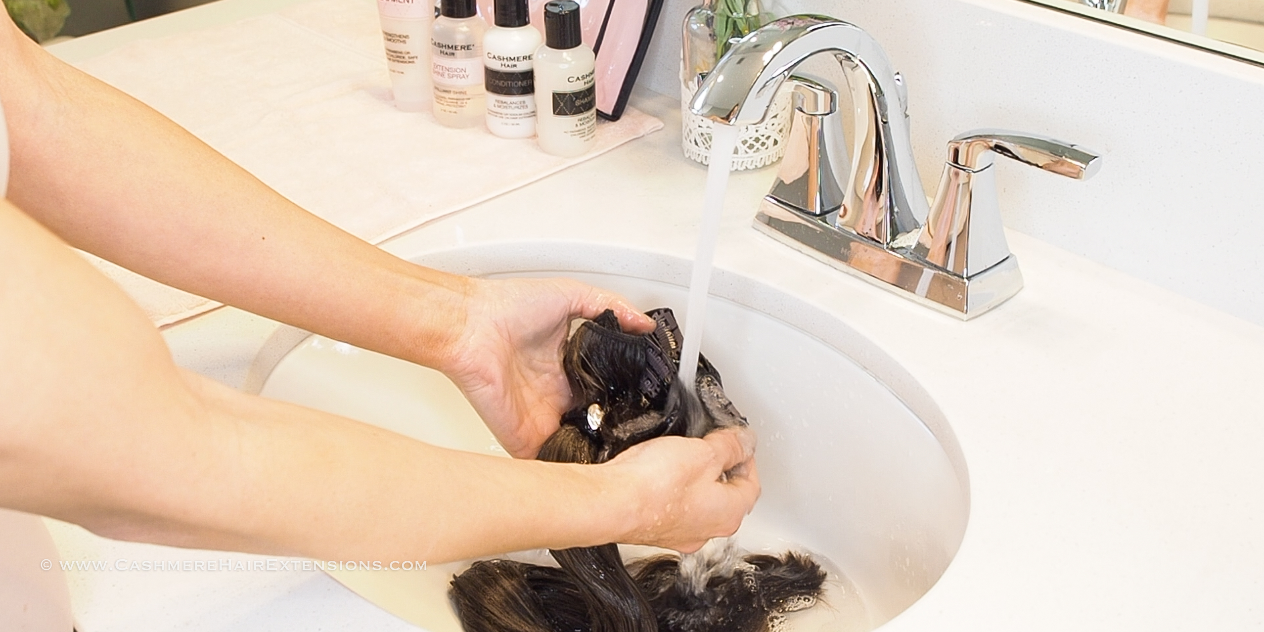 how to wash hair extensions