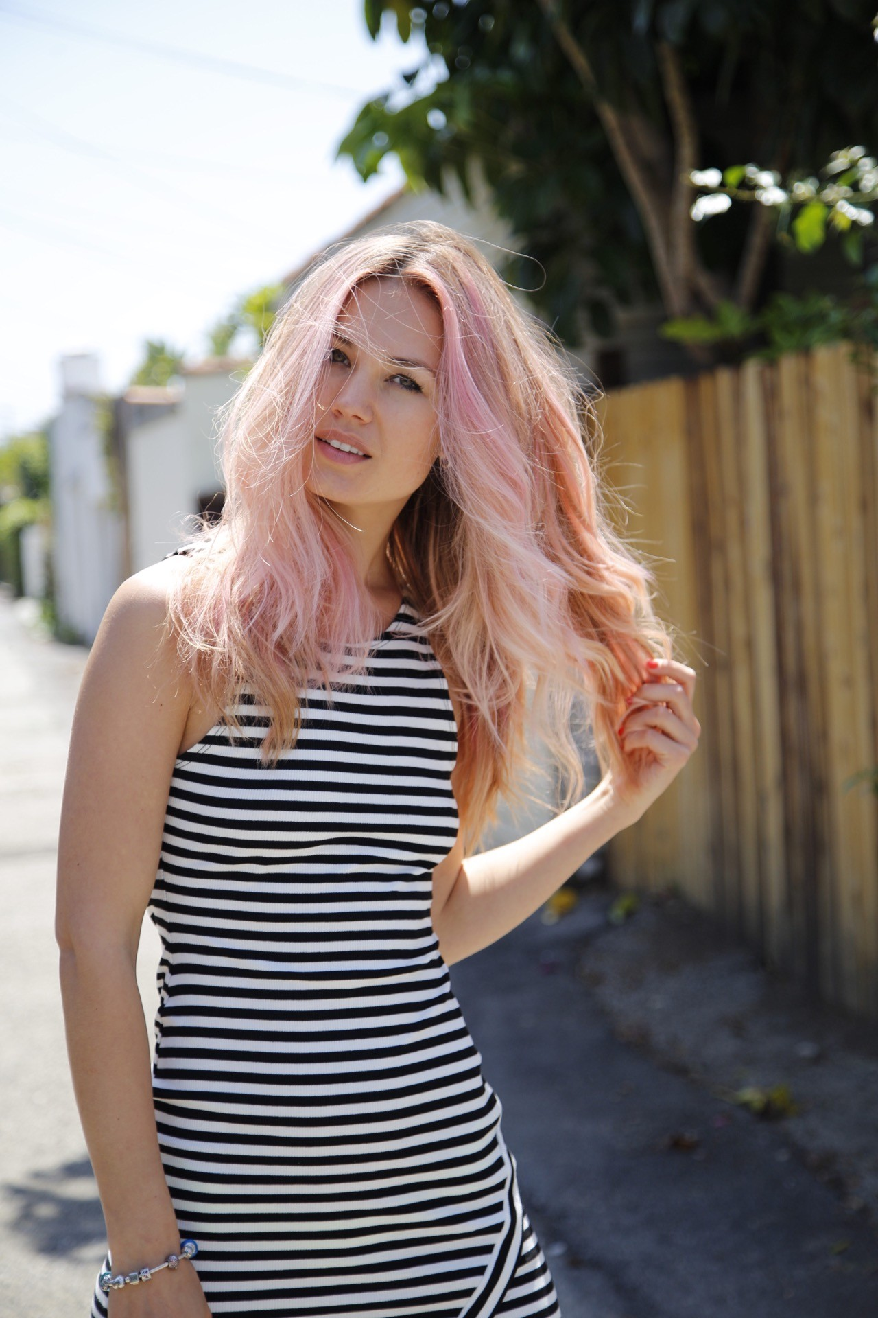 Cashmere Hair Clip in Extensions pink blonde remy long hair