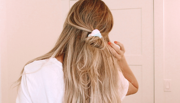 tie dye hair accessory hairstyle