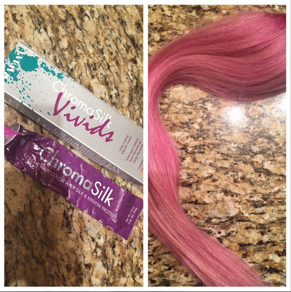 Pink cashmere hair