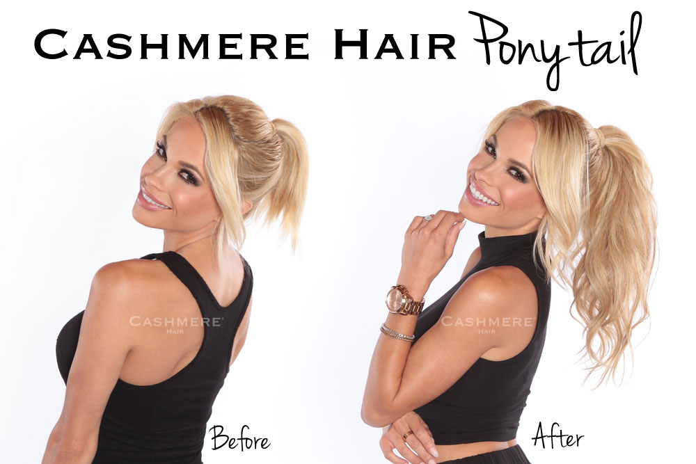 cashmere hair extensions clip in ponytail