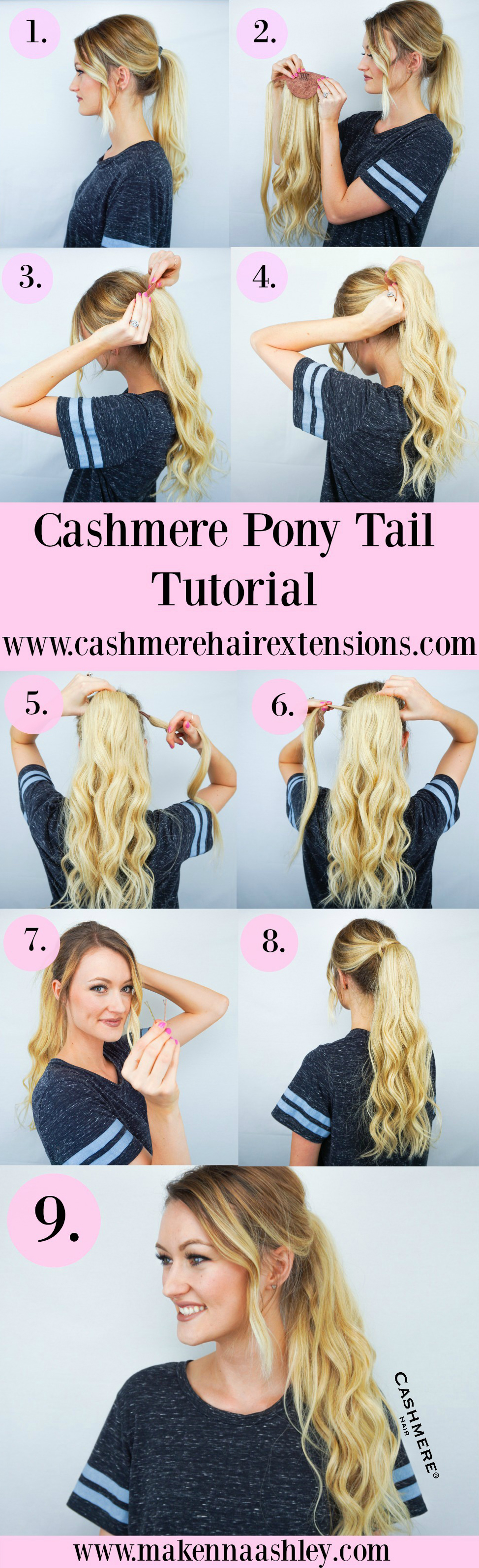 Cashmere Pony Tail Pic Tutorial 2