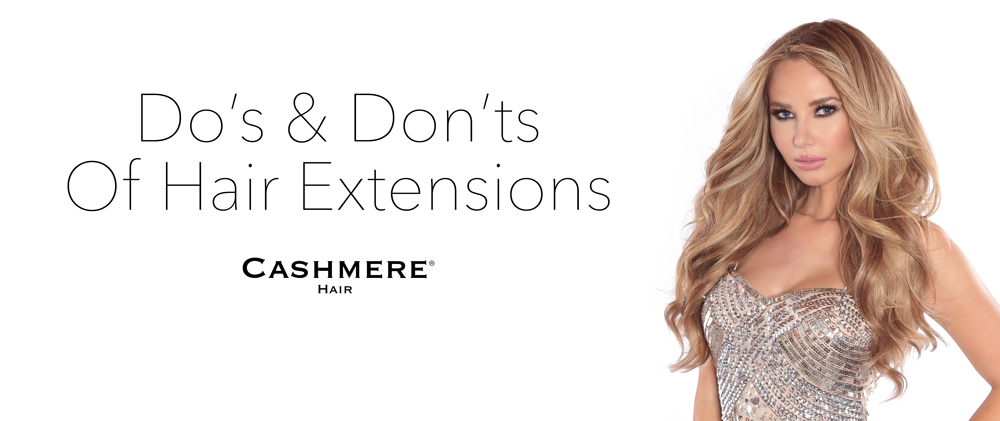cashmere Hair clip in Remy Extensions