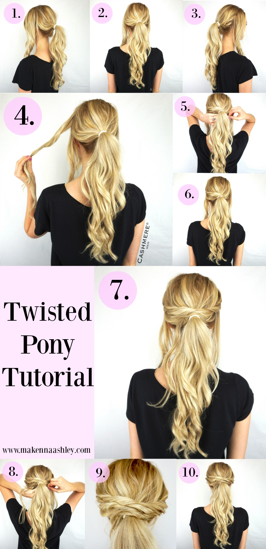Twisted Pony Tutorial Cashmere Hair Extensions