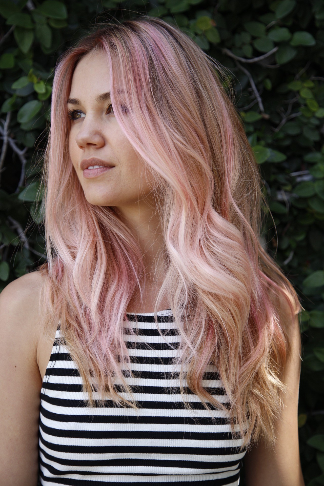 Cashmere Hair Pink Clip In Extensions
