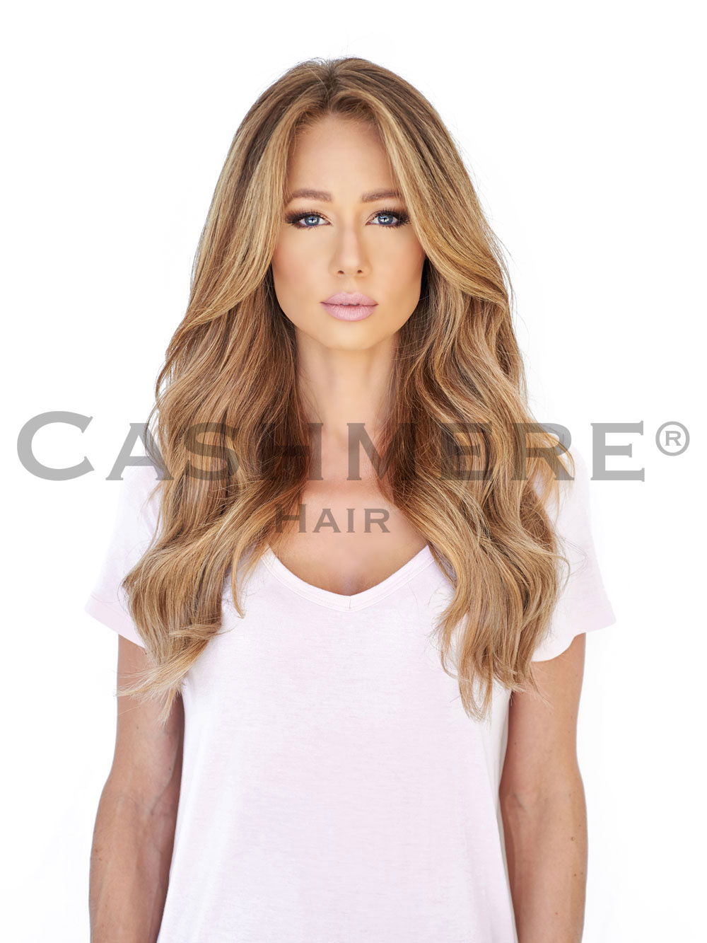 Model with 18 Inch Hair Extension Front View