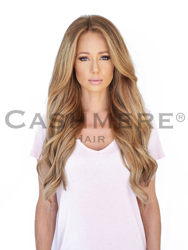 Model with 20 Inch Hair Extension Front View