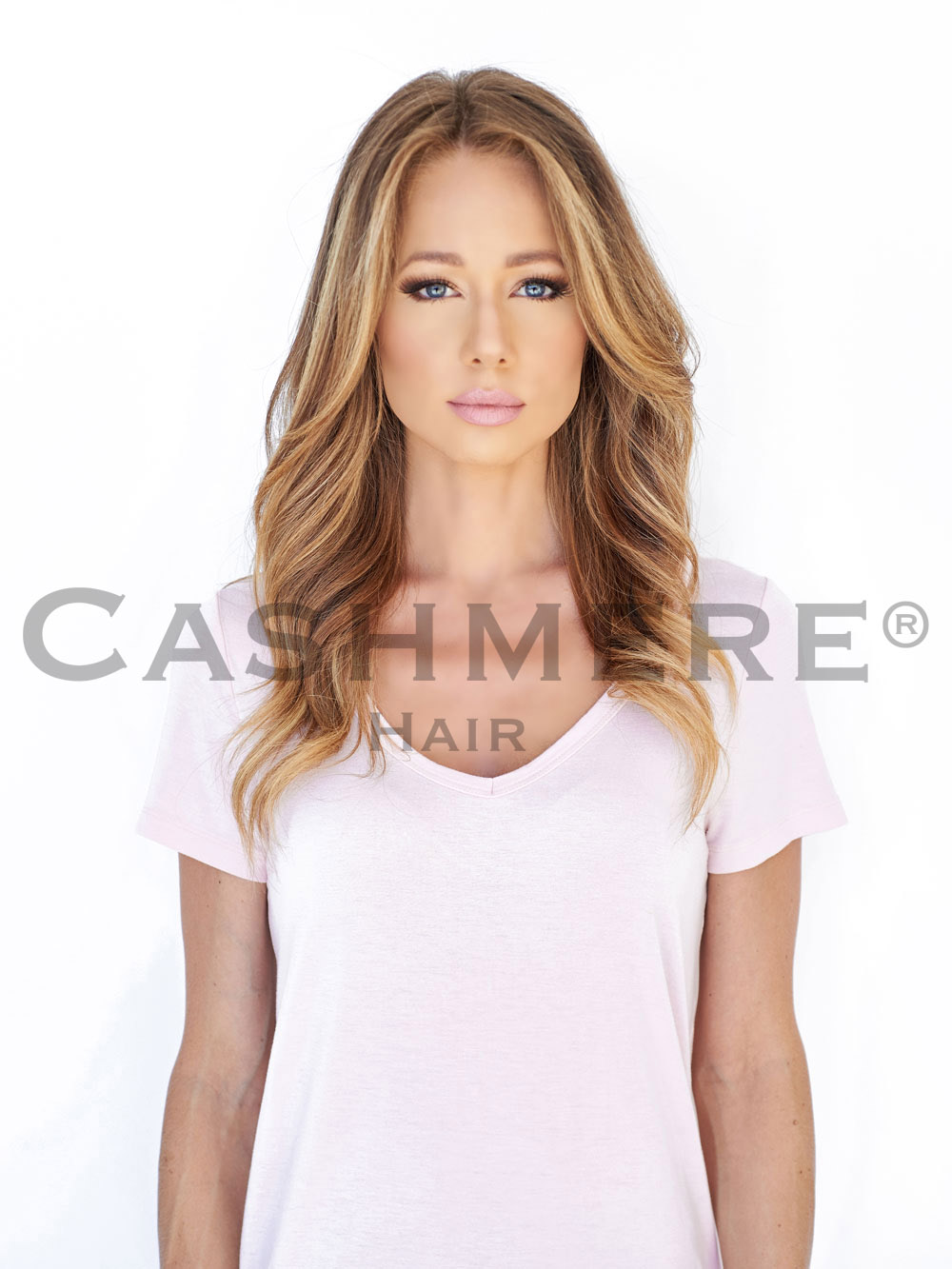 Model Before Hair Extension Front View