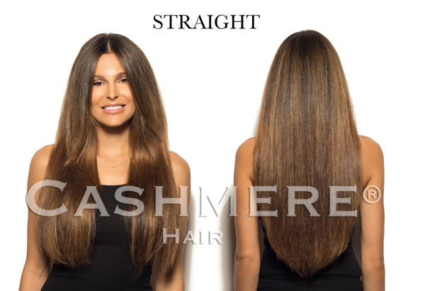 Straight Hair - Cashmere Hair Before and After