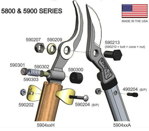 Vaca Vine Shears - 5800 Classic Series