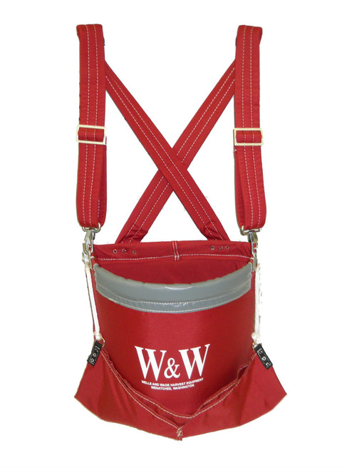 Apple Bag / Bucket with Padded Straps