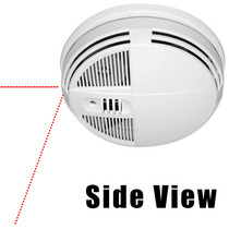 Smoke Detector Night Vision Hidden Camera w/ Wifi Remote View (90-Day Standby Battery)