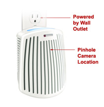 Plug-in Mini Air Freshener Hidden Camera w/ Night Vision, DVR & WiFi Remote View