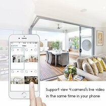 Kidde Carbon Monoxide Alarm Hidden Camera w/ DVR & WiFi Remote View