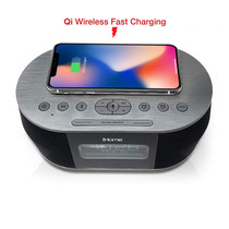iHome Qi Wireless Charging 4K Hidden Camera w/ DVR, WiFi Remote Viewing & 20' Night Vision