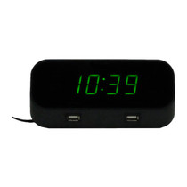 Timex USB Alarm Clock 4K Hidden Camera w/ DVR, Night Vision & WiFi Remote View
