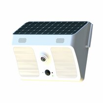 Solar Powered Outdoor LED Light Camera w/  Two-Way Talk, DVR, Night Vision & WiFi Remote Viewing