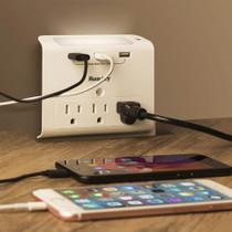 USB Outlet & Night Light Hidden 4K Camera w/ DVR & WiFi Remote View