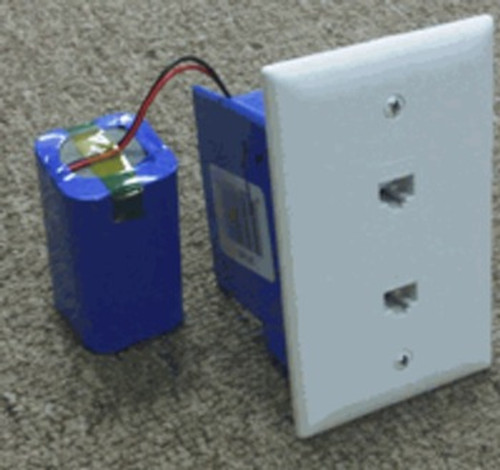 Telephone Wall Jack Hidden Camera w/ DVR & Battery