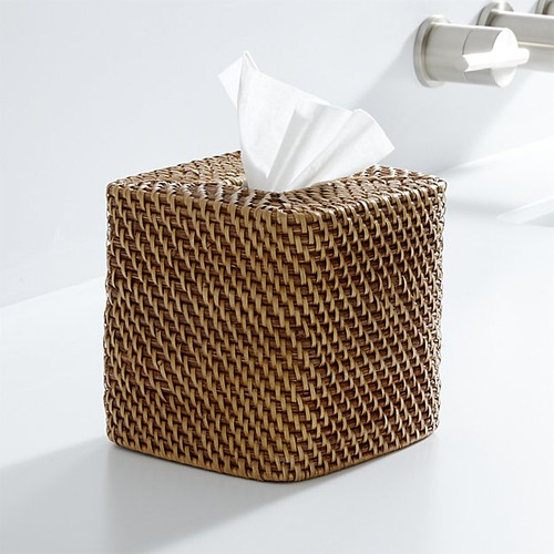 Wicker Tissue Box Hidden Camera w/ Wi-Fi Remote Viewing