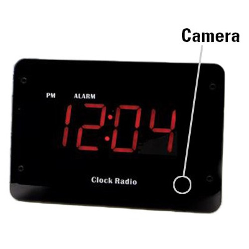 Clock Radio Hidden Camera w/ Night Vision & Wifi Live Viewing