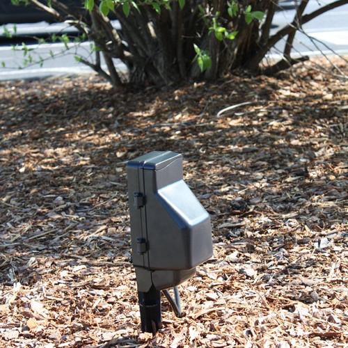 Outdoor Power Stake Hidden Camera w/ DVR Wifi Remote View