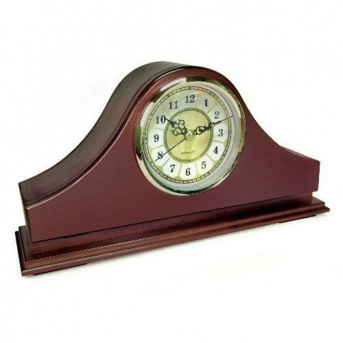 Mantle Clock Hidden Camera w/ Wifi Remote View (90-Day Standby Battery)