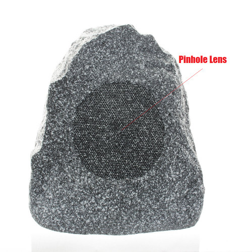 Outdoor Rock Speaker Hidden Camera w/ DVR, Night Vision & WiFi Remote View
