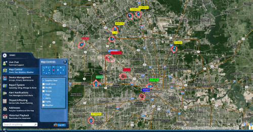 See all your GPS trackers on a single google map