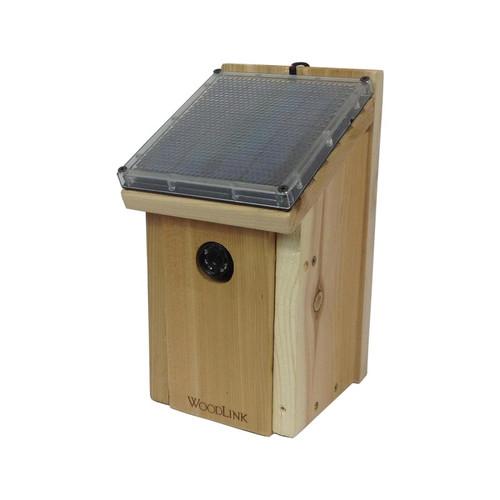 Solar Powered Birdhouse Night Vision Hidden Camera w/ DVR & Battery