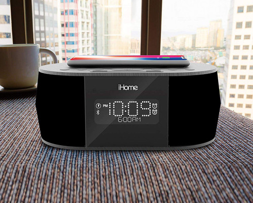 iHome Qi Wireless Charging Hidden Camera w/ DVR, WiFi Remote Viewing & 20' Night Vision