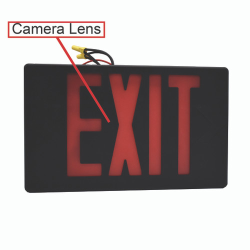 Exit Sign (Hardwired) 4K Hidden Camera w/ DVR & WiFi Remote View