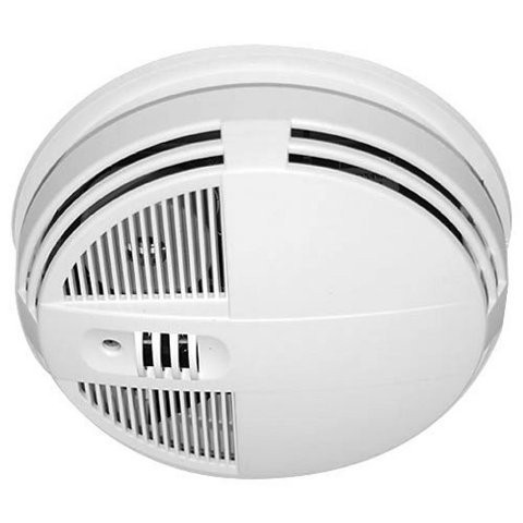 Smoke Detector Hidden 4K Camera w/ DVR & Night Vision (90-Day Standby Battery) Stunning 4K HD Video + 120 FPS For Spectacular Image QualityThis is the ultimate video quality you can get for camera that will capture the most pristine detail for a brilliant visual experience. All the video being recorded is in crisp & super clear 4k HD quality color video using the powerful high speed Sony IMX326 sensor. That's a total of 2280x2160 pixels with a 2.2F aperture. This ensures youll be able to make out all the details of activity in the room youre recording with incredibly fluid, smooth motion at up to 120 FPS. You'll be amazed at the detail that can be captured ensuring you'll never miss a moment. In addition, the camera lens shoots at an incredible 120 Field of View. At 120 youll be able to see most of your room, edge to edge without missing a thing.  All the video is recorded in AVI format using h.264 compression into time/date stamped files for easy saving, emailing or playback on your PC or Mac computer. Invisible Night Vision Sees In Darkness Up To 20' AwayAutomatically, the device will instantly enable the night vision mode and capture subjects up to 20 feet away as soon as its dark enough. There will be no obvious red lights to give away that you are recording in darkness that cheaper products use because of older, outdated technology. Note: when in night vision mode, the video being recorded is black and white.Record Weeks Of HD Video Onto A Removable SD Card Using an optional 128GB SD card, youll never run out of video memory. If you choose continuous mode, you'll get up to 43 hours of video. With adjustable frame rate controls of 4k, 2k, 1080p, 720p at optional frame rates of 30/60/120 FPS, its easy to capture weeks to months of hidden videos. The video will be recording in chunks of up to 5 minute intervals.  This ensures youll never miss a thing. Since normal motion that your TV plays back at is at 30 FPS, recording at a lower FPS (frames per second) will enable you to store much more footage on the SD card. Additionally, youll be able