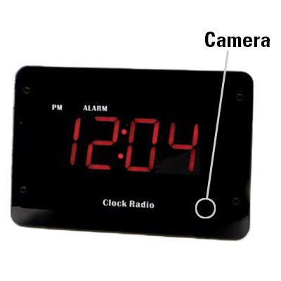 Clock Radio Hidden 4k Camera w/ Night Vision & DVR Stunning 4K HD Video + 120 FPS For Spectacular Image QualityThis is the ultimate video quality you can get for camera that will capture the most pristine detail for a brilliant visual experience. All the video being recorded is in crisp & super clear 4k HD quality color video using the powerful high speed Sony IMX326 sensor. That's a total of 2280x2160 pixels with a 2.2F aperture. This ensures youll be able to make out all the details of activity in the room youre recording with incredibly fluid, smooth motion at up to 120 FPS. You'll be amazed at the detail that can be captured ensuring you'll never miss a moment. In addition, the camera lens shoots at an incredible 120 Field of View. At 120 youll be able to see most of your room, edge to edge without missing a thing.  All the video is recorded in AVI format using h.264 compression into time/date stamped files for easy saving, emailing or playback on your PC or Mac computer. Invisible Night Vision Sees In Darkness Up To 20' AwayAutomatically, the device will instantly enable the night vision mode and capture subjects up to 20 feet away as soon as its dark enough. There will be no obvious red lights to give away that you are recording in darkness that cheaper products use because of older, outdated technology. Note: when in night vision mode, the video being recorded is black and white.Record Weeks Of HD Video Onto A Removable SD Card Using an optional 128GB SD card, youll never run out of video memory. If you choose continuous mode, you'll get up to 43 hours of video. With adjustable frame rate controls of 4k, 2k, 1080p, 720p at optional frame rates of 30/60/120 FPS, its easy to capture weeks to months of hidden videos. The video will be recording in chunks of up to 5 minute intervals.  This ensures youll never miss a thing. Since normal motion that your TV plays back at is at 30 FPS, recording at a lower FPS (frames per second) will enable you to store much more f