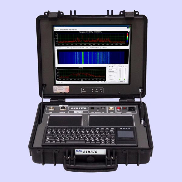 Sirius Wireline Analyzer 400000 kHz Signal Detector The SIRIUS (6th generation) analyzer is designed for detection of unauthorized galvanic connections,detection and analysis of signals in wire circuits and connected electronic devices, which appear as a result of acoustoelectric conversion or forming of modulation in return high frequency signal.The SIRIUS provides the following possibilities to an operator:Detailed analysis of signal spectra in examined wires.Evaluation of electronic equipment protection against acoustically induced modulation in return HF signal.Detection of acoustoelectric conversion effect in electronic equipment and connected wires.Detection of devices with remote control and acoustoelectric converters in equipment power supply circuits under external RF or acoustic excitation signals.Processing of signals of sound frequencies range: amplification, filtering, spectrum analysis, listening, recording and subsequent digital processing.Analysis of examined wire circuits with the following characteristic curves: volt-ampere, impulse transient response, amplitude-phase and amplitude frequency response.Impulse reflectometry for detectionInjection of HF signals to wire circuits and data processing equipment and analysis of converted signals.Impulse reflectometry for detection of obstacles in examined wires and measurement of distance to the point of detected connection.Measurement of DC and AC voltage in examined wire circuit.Measurement of HF and LF signals levels in examined wire circuit.Measurement of basic parameters of examined wire circuit: impedance, capacitance and inductance.Hardware and program-oriented demodulation of signals.Automatic commutation of contact pairs of examined wires.Creation of database of measurements for further examination, comparing and printing.Tracing of wires, hidden in walls and other construction elements, with the UP-8 Wire Tracer.DISTINCTIVE FEATURES:Extended possibilities for examination of wire circuits.Wide fre