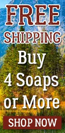 Free Shipping on Orders of 4 Bars of Soap or More