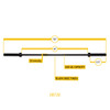 Body Solid 6' Weightlifting Bar Dimensions
