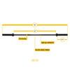 Body-Solid 6' Weightlifting Bar Dimensions