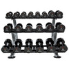 TAG (5-50 lb) Urethane Dumbbells w/ Rack