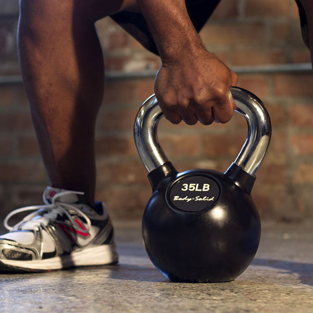Body Solid Rubber Coated Kettlebells
