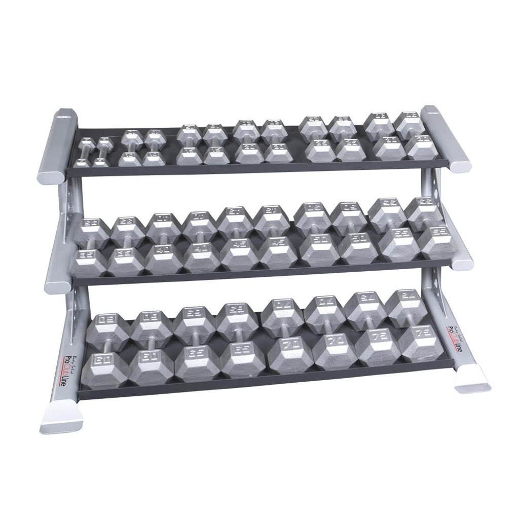 Body Solid 3-Tier Dumbbell Shelf Weight Rack