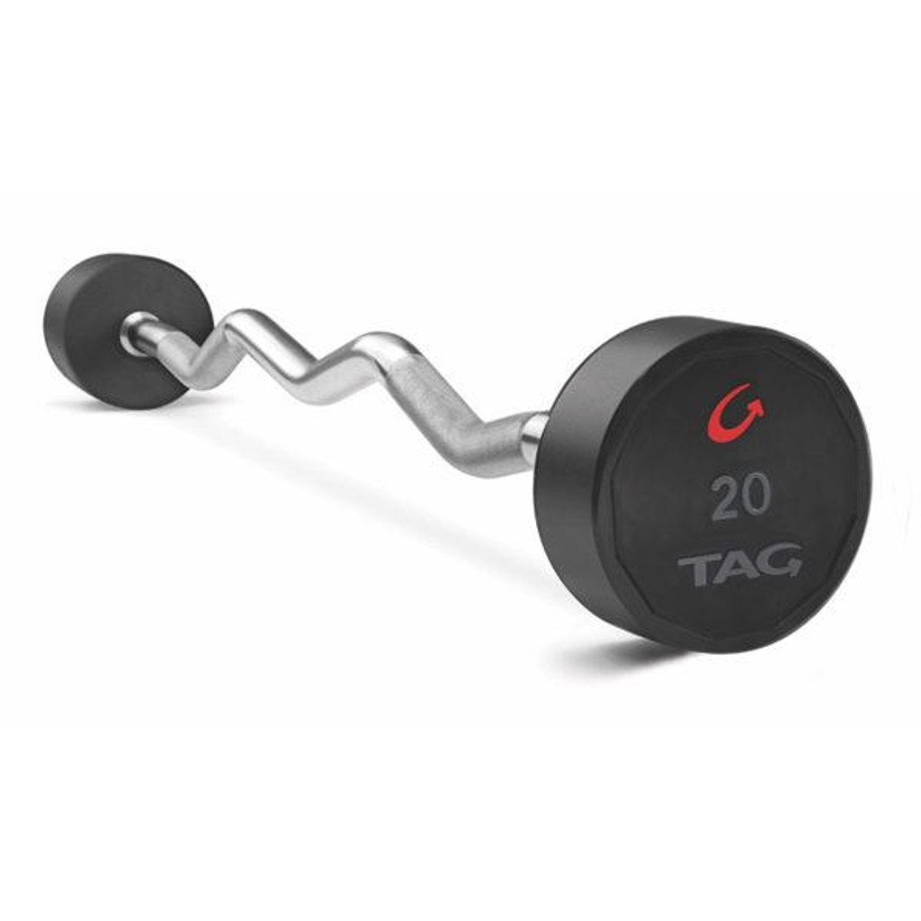 TAG Urethane Barbell with EZ Curl Bar