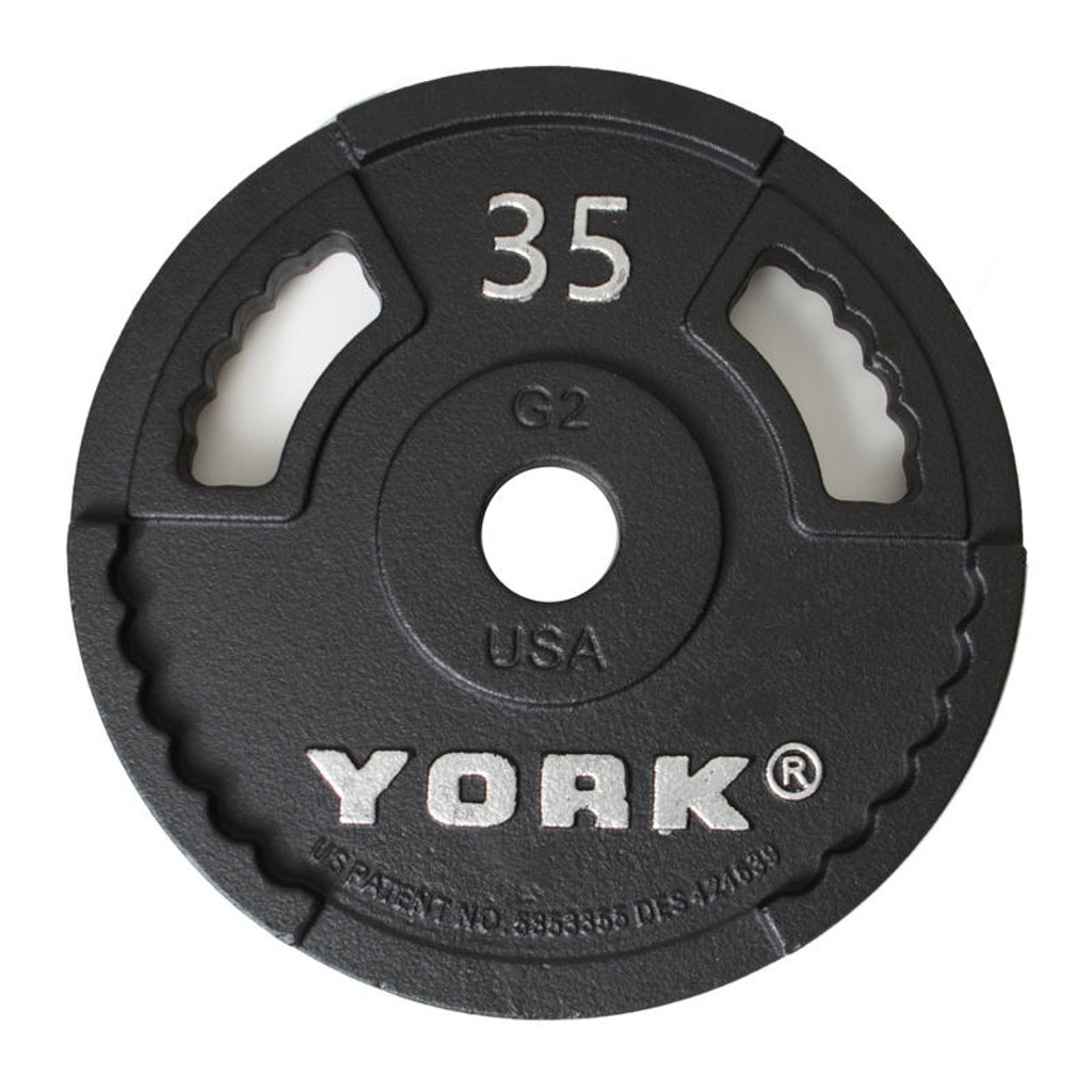 York Barbell 35 lb Weight Lifting Plate