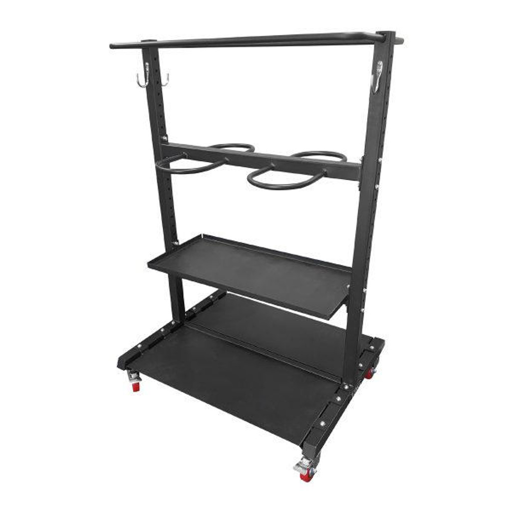 TAG Gym Equipment Storage Rack with Wheels RCK-FITCART | Mobile Fitness Accessory Gtech