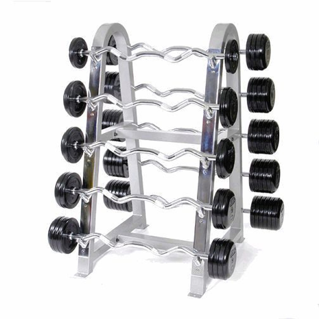Troy Rubber Coated Barbell Set with Rack