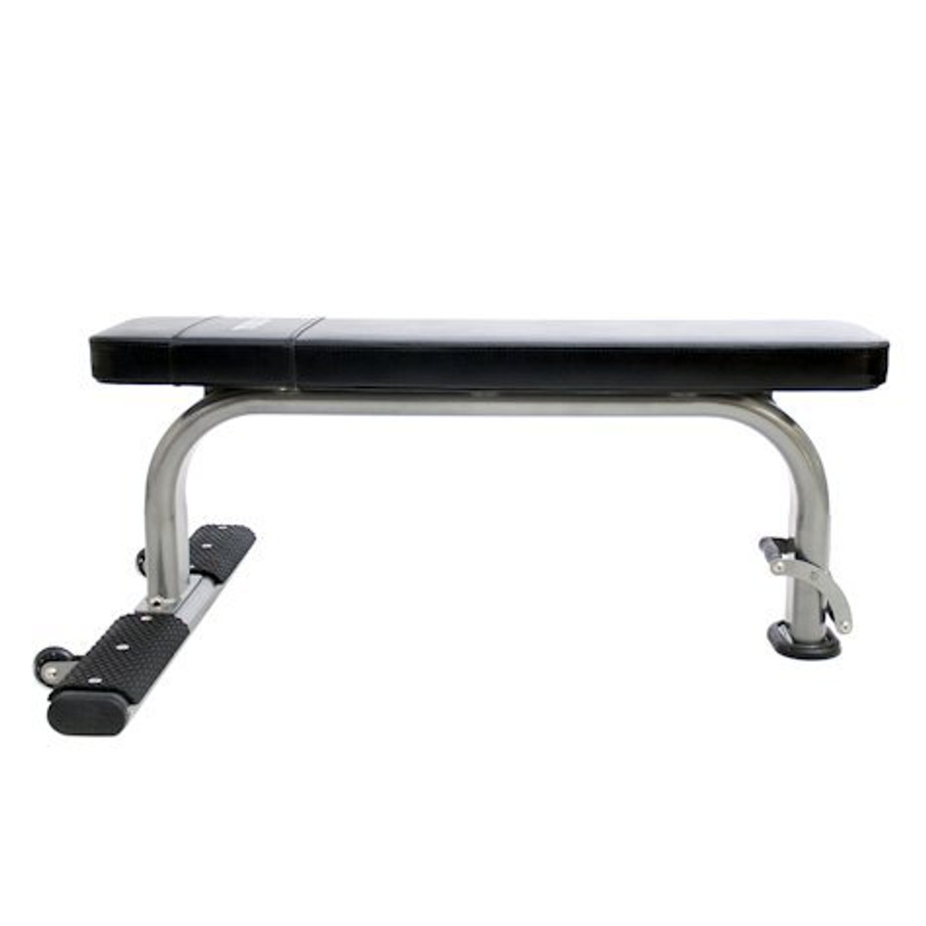 TKO Flat Weightlifting Bench with Wheels
