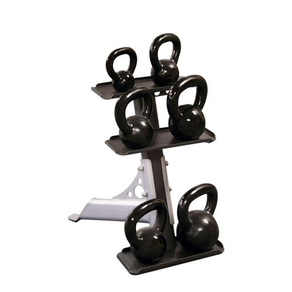 Body Solid Compact 3-Tier Kettlebell Rack - GDKR50