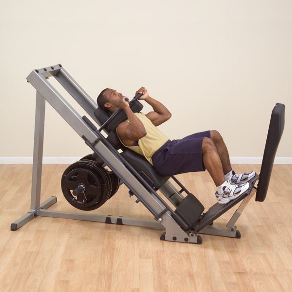 Body Solid Plate Loaded Leg Press/Hip Sled Combo