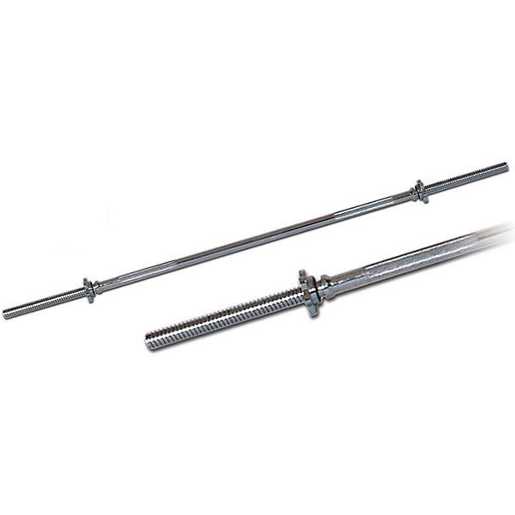 "York Barbell 6038 6' Standard 1"" Threaded Weight Bar with Star-Lock Collars"