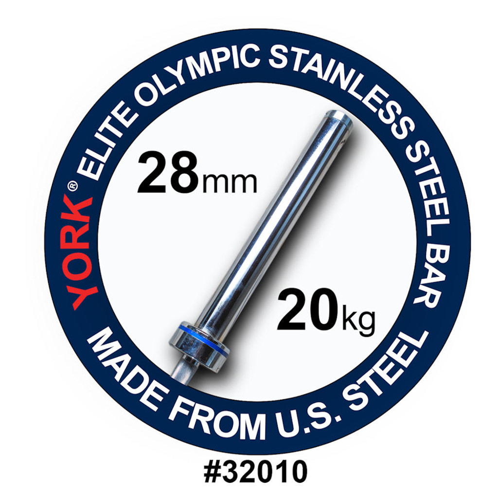 York Barbell Elite Needle Bearing Weight Lifting Bar
